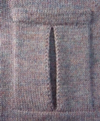 Pleated Pocket - Text Version Tutroial for Machine Knitting