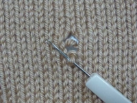 Repairing Dropped Stitches Tutroial for Machine Knitting
