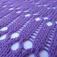 Double Eyelet Lace tutorial for Machine Knitting