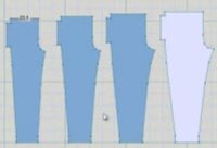 Using the Grading feature to create a series of garment shapes Tutorial for Machine Knitting
