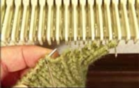 Hand Knit Ribbing with Machine Knitting Tutroial for Machine Knitting