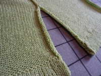 Edges for Slit Skirts, Sweaters and Necklines lesson for Vicki's Cardigan Home Study Course