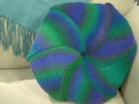 Shortrow Pinwheel Pillow Cover Tutorial for Machine Knitting