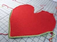 Shaped Heart Pillow tutorial for Machine Knitting