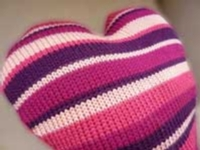 Sew and Cut Striped Pillow Tutorial for Machine Knitting