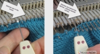 Rescue Row tutorial for Machine Knitting