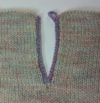 Easy (Lazy) Edge Finish Tutroial for Machine Knitting