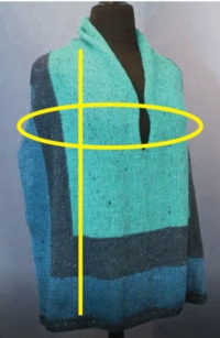 Alter the Color Block Poncho Tutorial for Machine Knitting