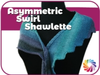 Asymmetric Swirl Shawlette/Scarf Tutorial for Machine Knitting