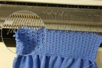 Rip and Rehang tutorial for Machine Knitting