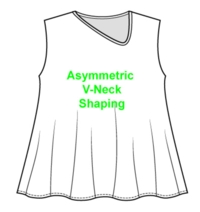 Asymmetric V Neck Opening Tutorial for Machine Knitting