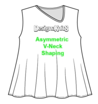 DAK: Asymmetric V-Neckline Tutorial for Machine Knitting
