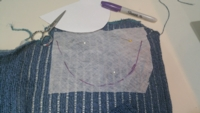 Stabilizer for Cut 'n Sew Excellence tutorial for Machine Knitting