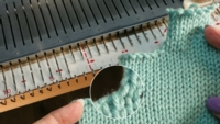 Partial Bind Off tutorial for Machine Knitting