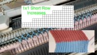 Short Row Increasing in 1x1 ribbing Tutorial for Machine Knitting