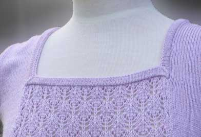 Square Neck Mitered Band Knit In Now Series