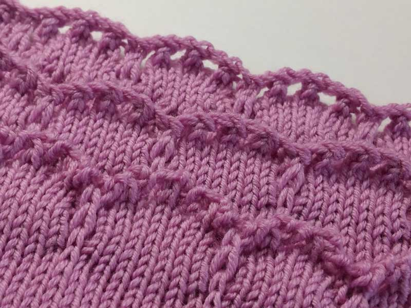 Scalloped Hems and Edges Knit In Now Series