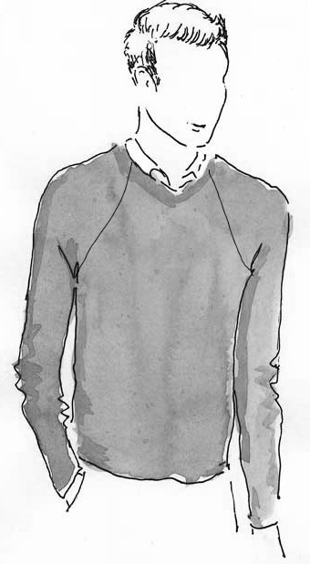 Man's Raglan Pullover Knit In Now Patterns