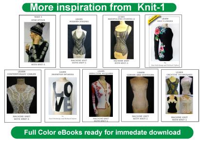 machine knitting books by knit-1