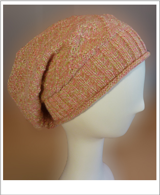 machine knit slouchy hat pattern