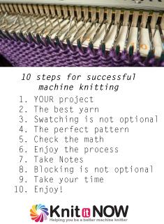 machine knitting success