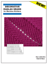 Decorative Raglan Seam Decreases for machine knitters