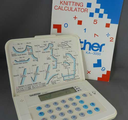 Brother KA3000 knitting calculator - machine knitting
