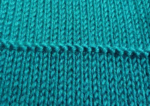 garter stitch on the knitting machine