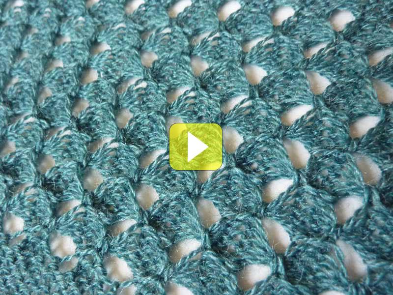 machine knitting tuck lace stitch