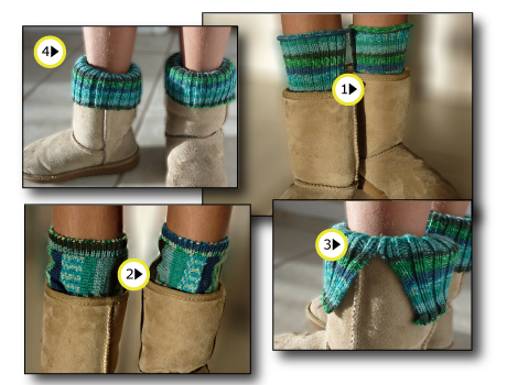 Boot Toppers (aka leg warmers) | Machine Knitting Project | Knit it