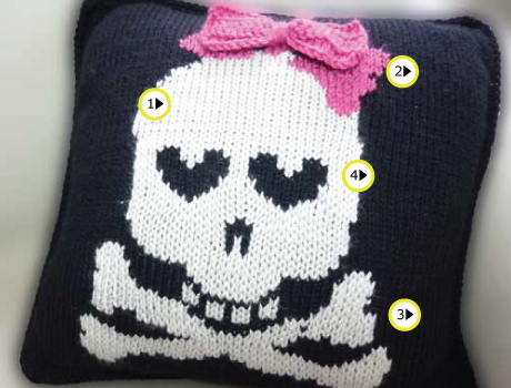 Skull And Crossbones Pillow Machine Knitting Project