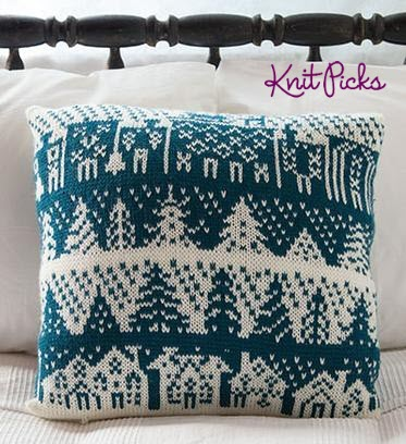 Townscape Pillow | You Can Knit This On Your Knitting Machine