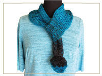 Ribber PomPom Scarf - Quick win
