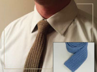 Man's Knitted Tie Project