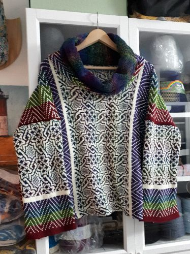 Abstract Sideways Pullover