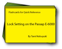 Passap E-6000 Lock Setting Flashcards