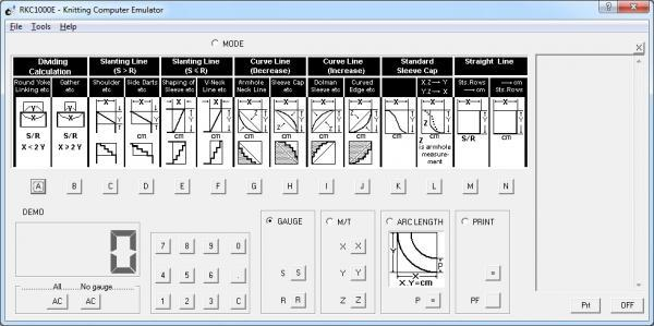 SilverKnit RKC 100E Knitting Computer Software