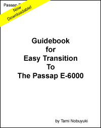 Guidebook for Easy Transition to the Passap E-6000 (eBook) by Tami Nobuyuki