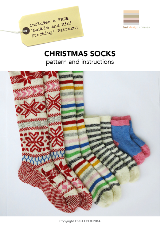 Christmas Socks by Knit-1