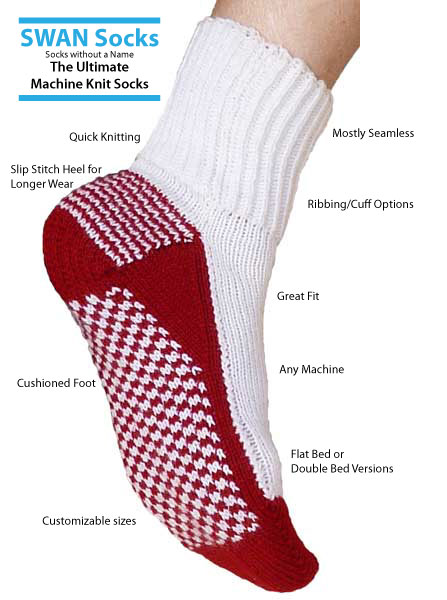 Swan Socks (The Ultimate MK Socks) by Knit it Now eBook