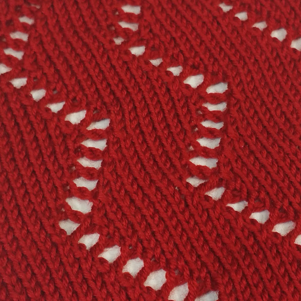 Knit Zig Zag Rib Stitch : Lace hand manipulated stitch pattern for machine
