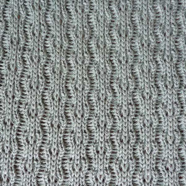 Knitting Pattern Stitch Library : Tuck Lace Stitch Pattern For Machine Knitting KIN 6510 ...