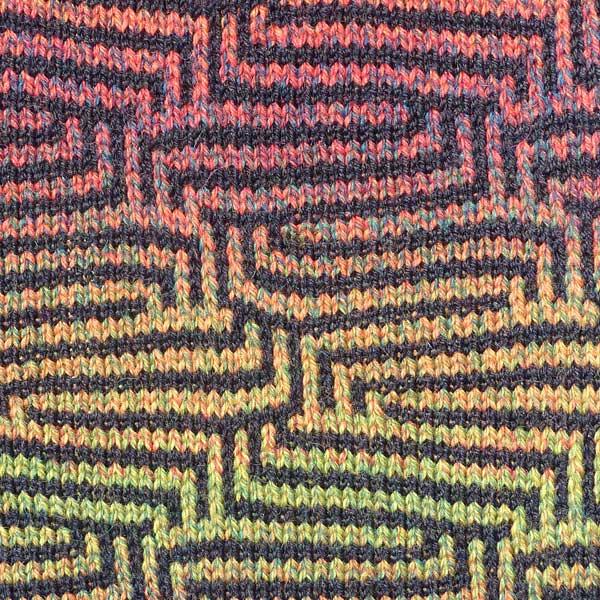 Slip Stitch Color Knitting Patterns : Multi Color Slip Stitch Pattern For Machine Knitting KIN 806 Multi Slip K...