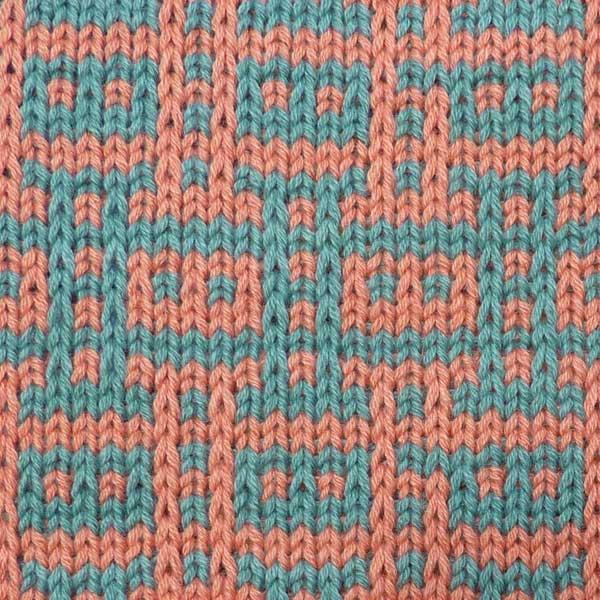 Knitting Stitch Pattern Index : Multi Color Slip Stitch Pattern For Machine Knitting KIN 804 Multi Slip K...